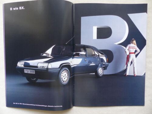 Modelli Citroen/'88-AX BX CX 2cv c15 VISA-prospetto brochure 11.1988