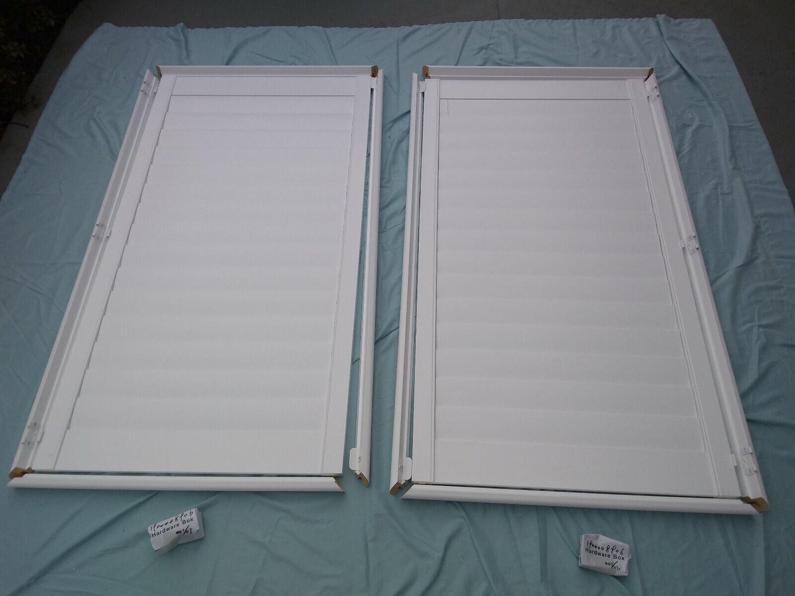 Solid Wood Interior Plantation Shutters 28 9 16  W x 53 1 16  L bianca louvers