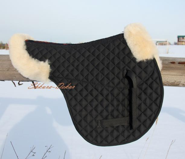 Shockproof Saddle Pad   100% Genuine Australian Sheepskin   Universal Diuominiione
