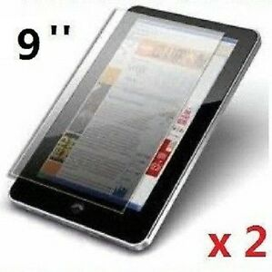 """2 x PROFESSIONAL SCREEN PROTECTOR FOR 9/"""" INCH ANDROID TABLET PC EPAD APAD UK"""