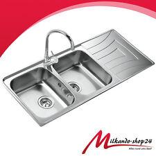 2 Becken Doppelspüle Edelstahl Küchenspüle Einbauspüle Küchen Spülbecken Teka