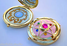 Sailor Moon Crystal Star Compact Brooch Locket Functional CosPlay Doll Prop