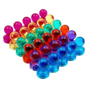 Magnet-Pins-30-Neodym-Pin-Kegel-Magnete-Office-Buero-6-Farben-ultrastarke-Haftung
