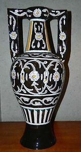 BODENVASE STANDVASE (No 6) mit Henkel griechisch 56 cm hoch signiert