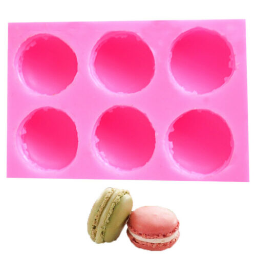6 Cavity Macaron Silicone Mold 3D Burger Soap Form Mold Cake Chocolate Moulds