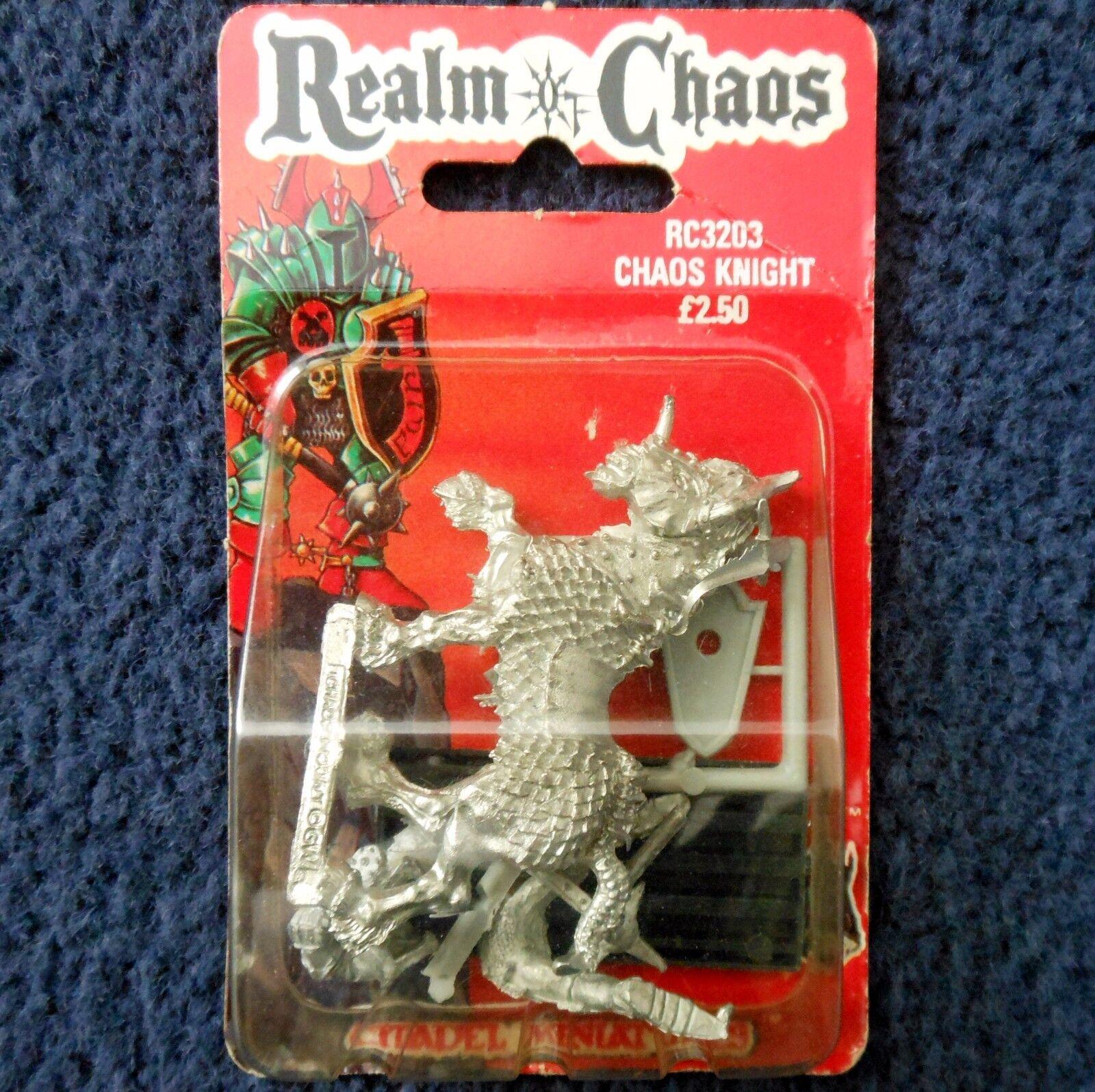 1988 Caos Caballero 3 Juegos taller Warhammer army Reino de Guerrero caballería MIB