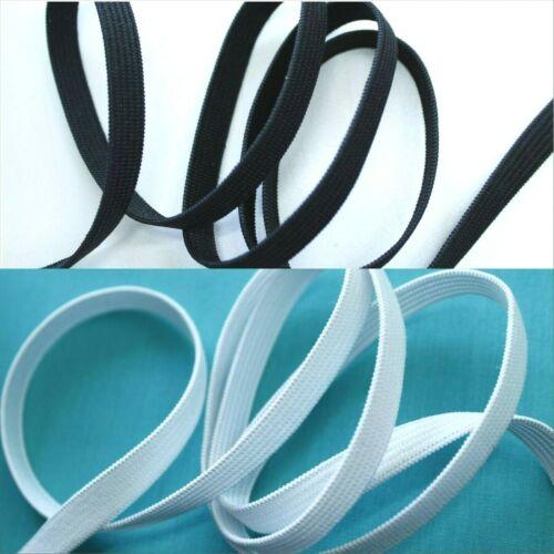 5 m Schwarz Weiß Gummilitze Wäschegummi 8 mm 10 m oder 25 m  Gummiband
