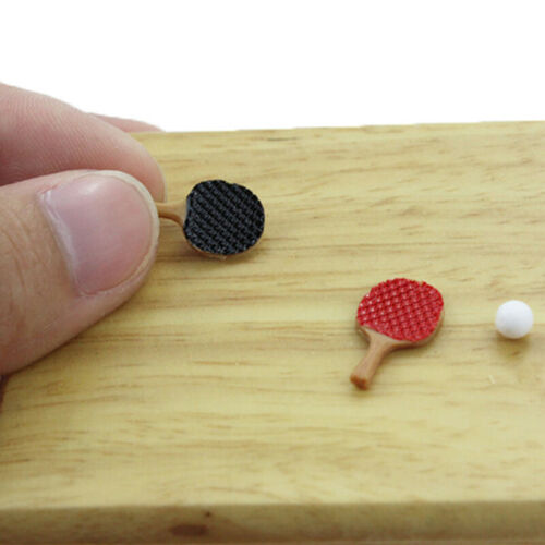 1:12 Miniature ping pong paddle dollhouse diy doll house decor accessorie JH