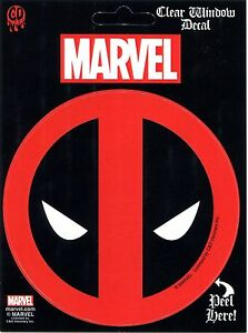 "DEADPOOL Icon Logo 4"" Clear Window DECAL Sticker - New Marvel Comics Licensed"