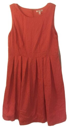Corey P Womens Size 14 Dress Fit and Flare Red Whi