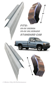 1999-2006 Silverado Sierra Standard Cab Outer Rocker Panels And Cab Corners Pair