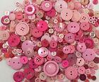 Pink Buttons 100pcs Assorted Shades & Sizes Bulk Lot Aussie Seller