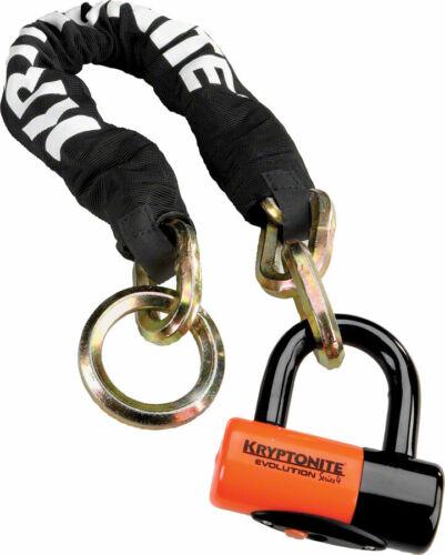 Kryptonite New York Cinch Ring Chain 1275 and Evolution Disc Lock 2.5/' 70cm