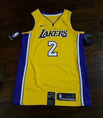 best sneakers 72c2a e8021 NIKE MENS NBA LOS ANGELES LAKERS LONZO BALL SWINGMAN JERSEY Size Small  864423...   eBay