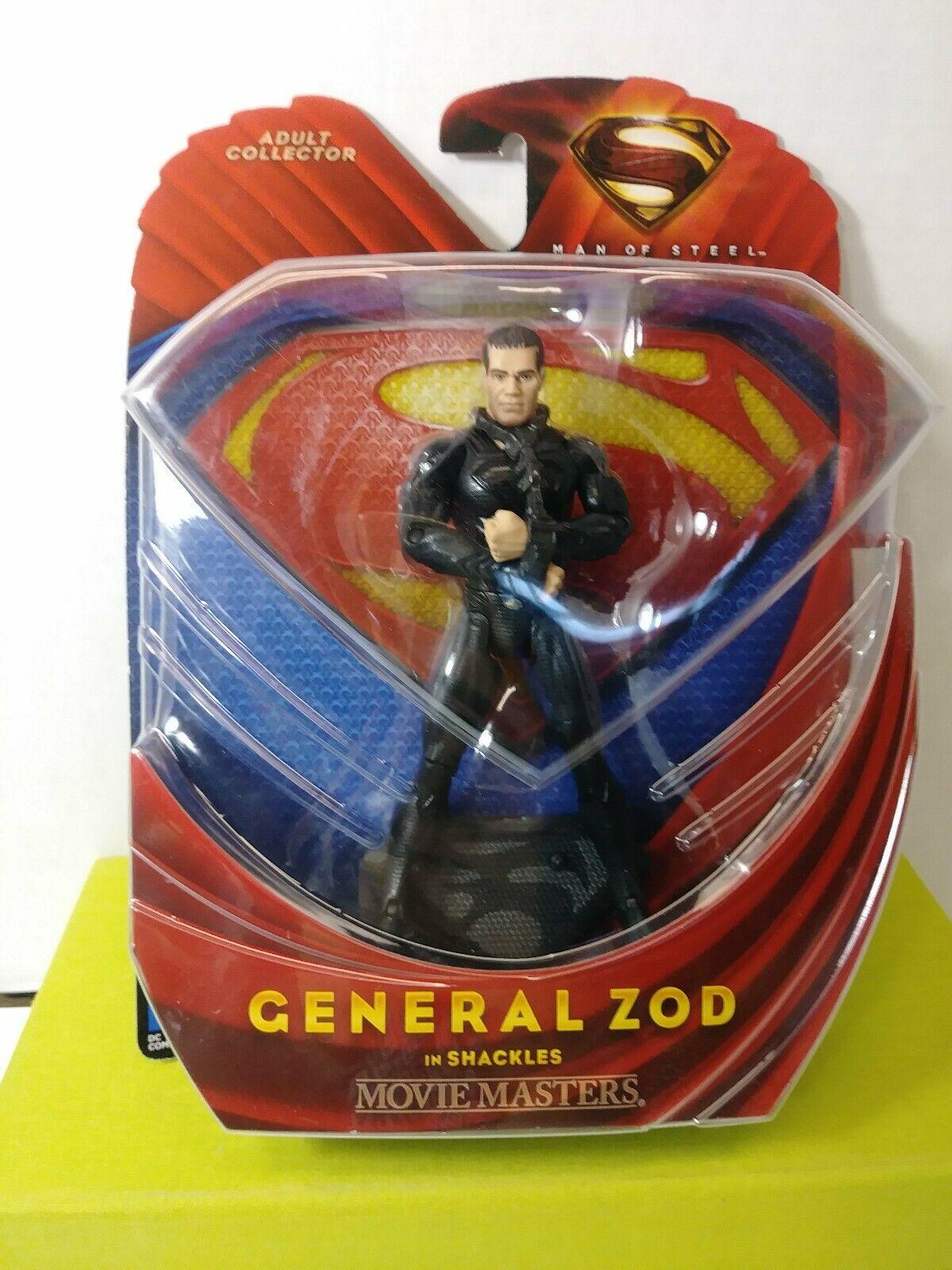 "Man of Steel Movie Masters 6/"" Action Figure General Zod in Shackles 2013"