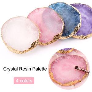 Resin-Nail-Art-Painting-Gel-Palette-Stylish-Golden-Edge-Mix-Stir-Plate-Nail-DIY