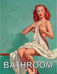 Image Is Loading Vintage Pin Up Bathroom Retro Style