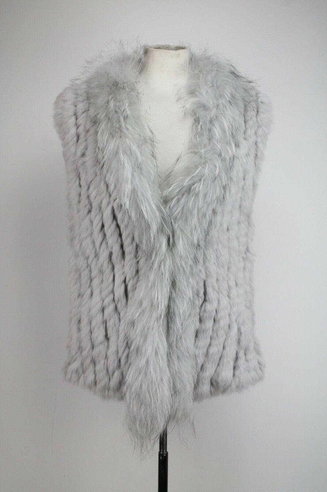 Jay Jay Jay Ley Collection Real Fur Knitted grau Vest, One Größe | Modern Und Elegant In Der Mode  470252