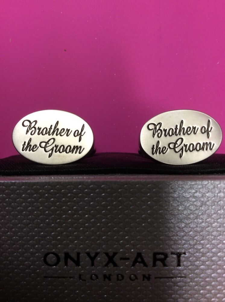 **REDUCED** Brother Of The Groom Cufflinks by Onyx Art CK535