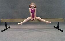 "Gymnastic Balance Beam 8ft  TAN w/ 12"" Risers"