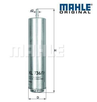 335dX Mahle Original KL736//1D 13328572522 Filtro de combustible BMW F30 325d 330d