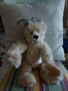 Sue Coe Ganz Cottage Collectibles Cream Teddy Bear Ribbons Ebay