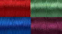 Polyester Embroidery Thread Set (jewel Tones) Size 12 3ply Thread 4 X 25g Spools