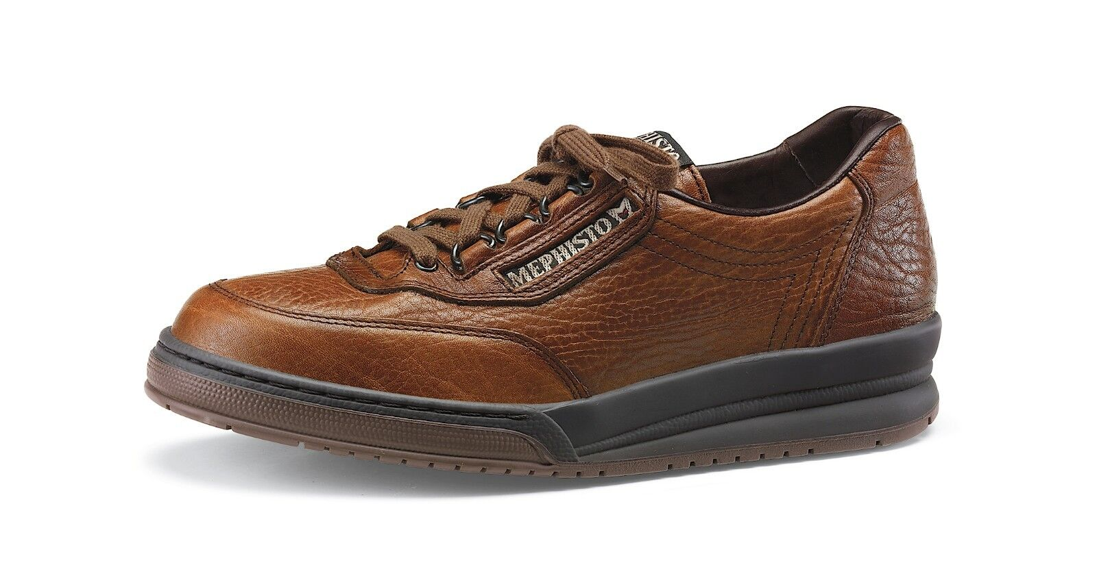 MEPHISTO MEN'S MATCH WALKING COMFORT LACE SHOE, ARCH SUPPORT
