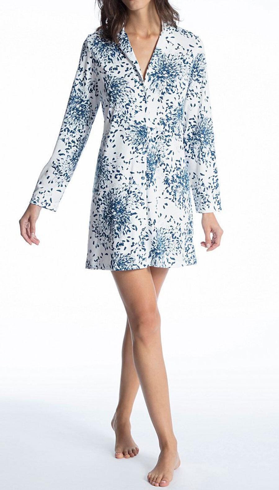 CALIDA Nachthemd geknöpft 36-38 poseidon bluee 30151