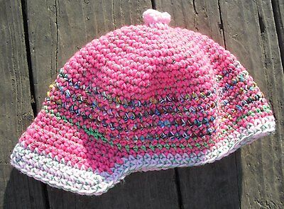 Sweet Pink Toddler Beanie with a Visor - Handmade by Michaela