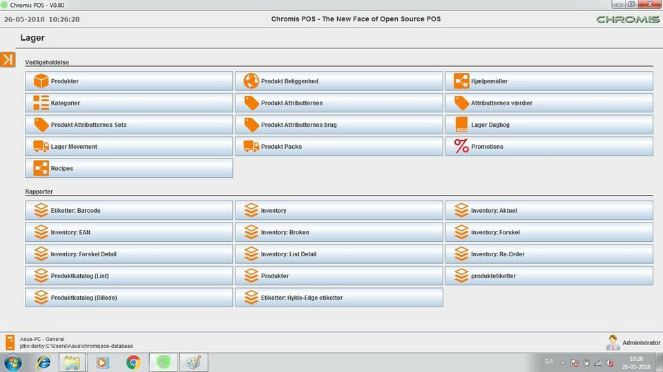 Kasse system software, Software pos system