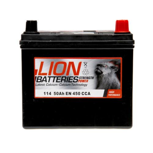 114 114 Car Battery 3 Years Warranty 38Ah 330cca 12V L197 x W128 x H178mm Lion
