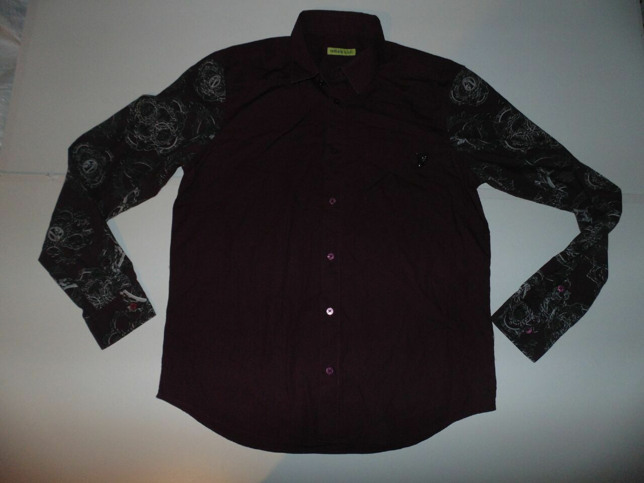 Versace Jeans purple shirt - medium mens - S5772