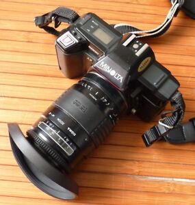Analoge Fotografie Blitz Kamera 35 Mm Aromatischer Charakter Und Angenehmer Geschmack Kamera Analog Minolta 5000 Af Mit Zoom Sigma