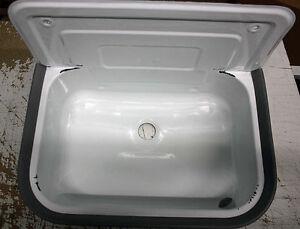Waschbecken B Ware Für Draußen Garten Keller Waschküche Weiß