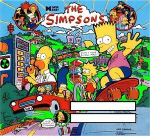 Données De L'est Simpsons Pinball Machine Translite Looks Just
