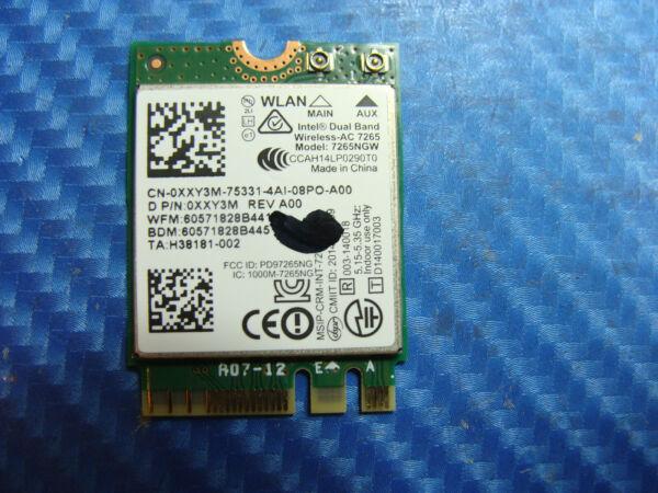 "Dell Inspiron 7348 13.3"" Genuine Laptop Wifi Wireless Card 7265ngw Xxy3m"