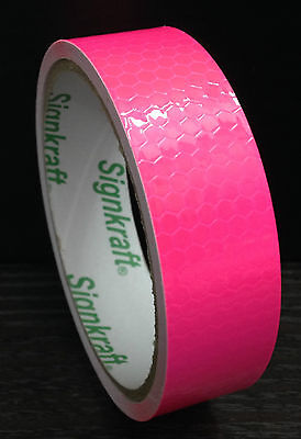10ft/3m 25mm/50mm Safety Reflective Adhesive Tape SILVER ORANGE GREEN PINK GOLD