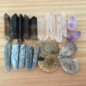 Hot-A-Lot-of-Natural-Quartz-Crystal-Kyanite-Mineral-Specimens-of-Rough-50G-1-SET