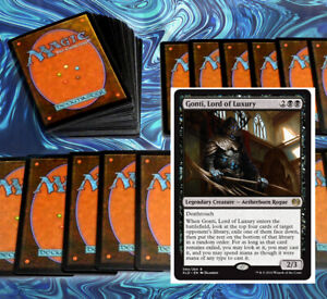 mtg-BLACK-GONTI-COMMANDER-EDH-DECK-Magic-the-Gathering-vilis-josu-vess-rares