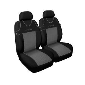 Opel Corsa 2x Front Kunstleder  Sitzbezug Sitzbezüge Schwarz