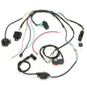 50cc-125CC Wire Harness Stator Assembly Wiring Harness For Chinese ATV Quad  Kit | eBayeBay