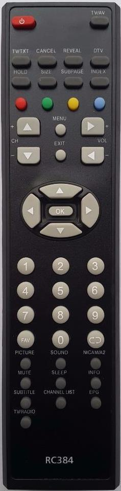 Replacement Remote Control for Telefunken Tel32g7 TV