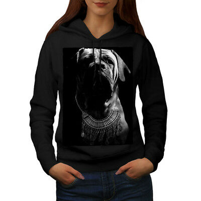GroßZüGig Wellcoda Boxer Dog Face Art Womens Hoodie, Hound Casual Hooded Sweatshirt Kunden Zuerst