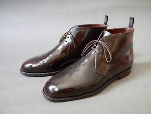 Carmina 勃艮第马臀男式chukka 靴子10uk