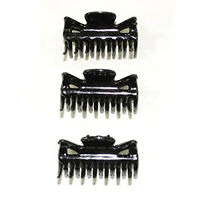 3 Pack Medium Large Black Plastic Hair Claw Clips 3 1/2 Wet Dry Summer Workout on sale