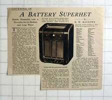 1936 The Ekco B67 Five Valve Battery Superhet Review