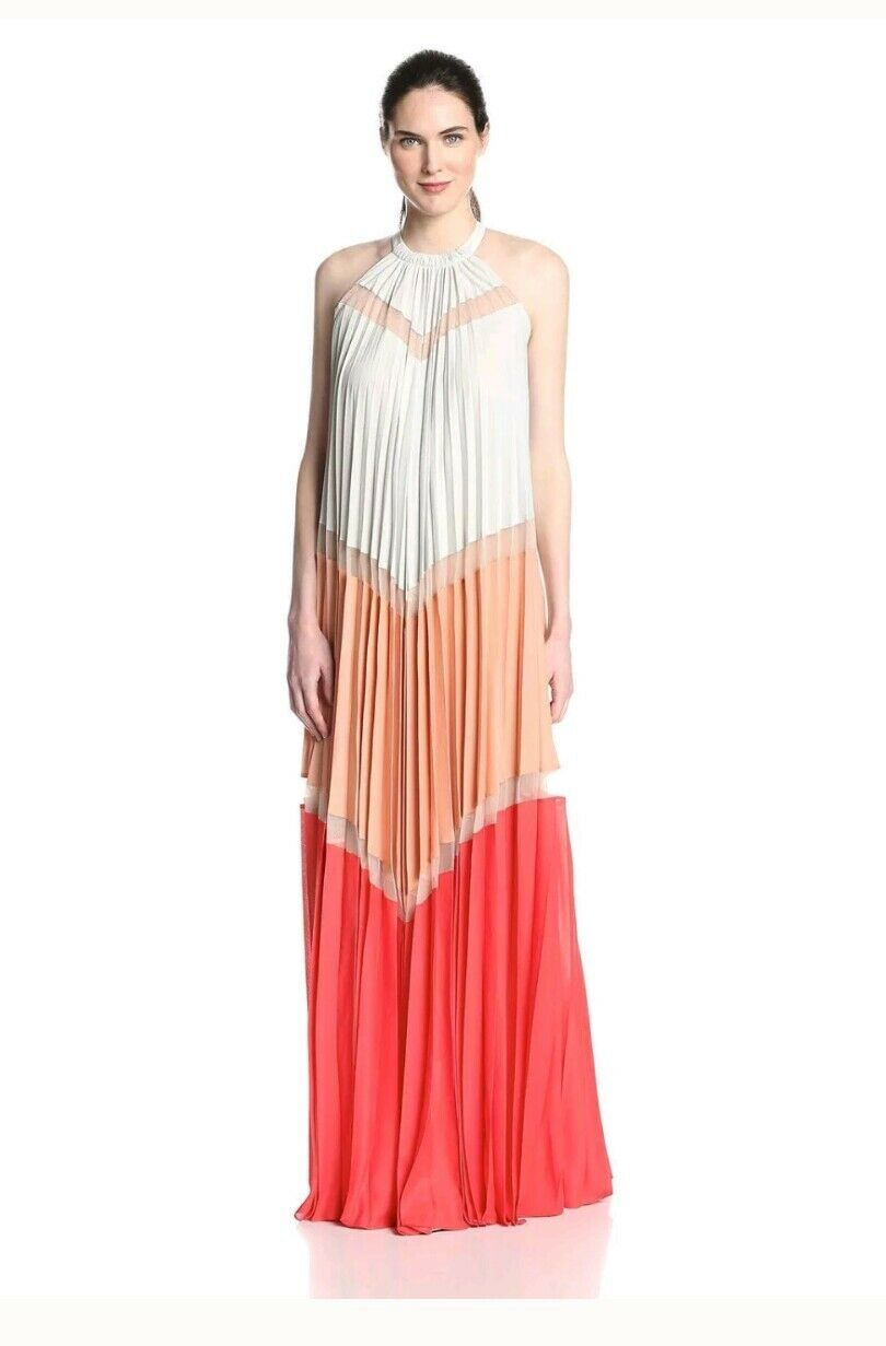 BCBG pleated Gown XXS size 8-12 RRP  worn once excellent condition.
