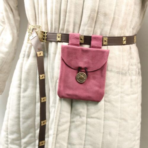 Medieval Renaissance LadiesSubconsciously Conscious Violet Suede Leather Pouch