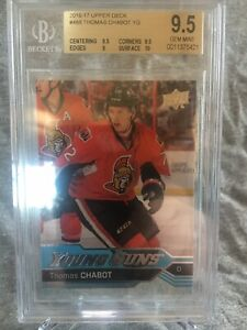 16-17-UD-Series-1-Young-Guns-Rookie-Thomas-Chabot-BGS-9-5-Gem-Mint-488-RC